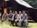 Výbor UJS PS Kojšov v roku 2002 - chata Jedlinka