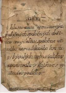 Zoznam členov Urbariátu